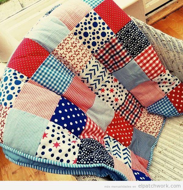 Colchas de patchwork modernas pasblok pinterest - Patrones colcha patchwork ...