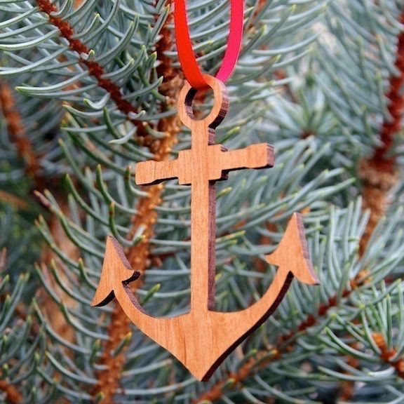 Christmas Ornament Anchor Christmas ornament, Ornament and Wooden