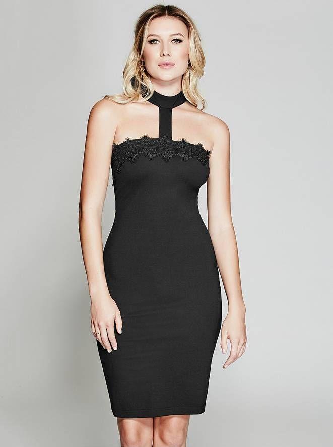 Adalia Choker Dress Guess By Marciano Now Trending Pinterest