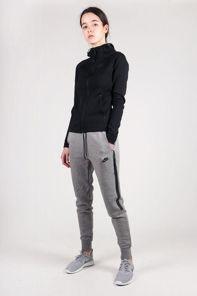 Womens Tech Fleece Pants Carbon Heather Black Sweat Women Nike Tech Fleece Tech Fleece
