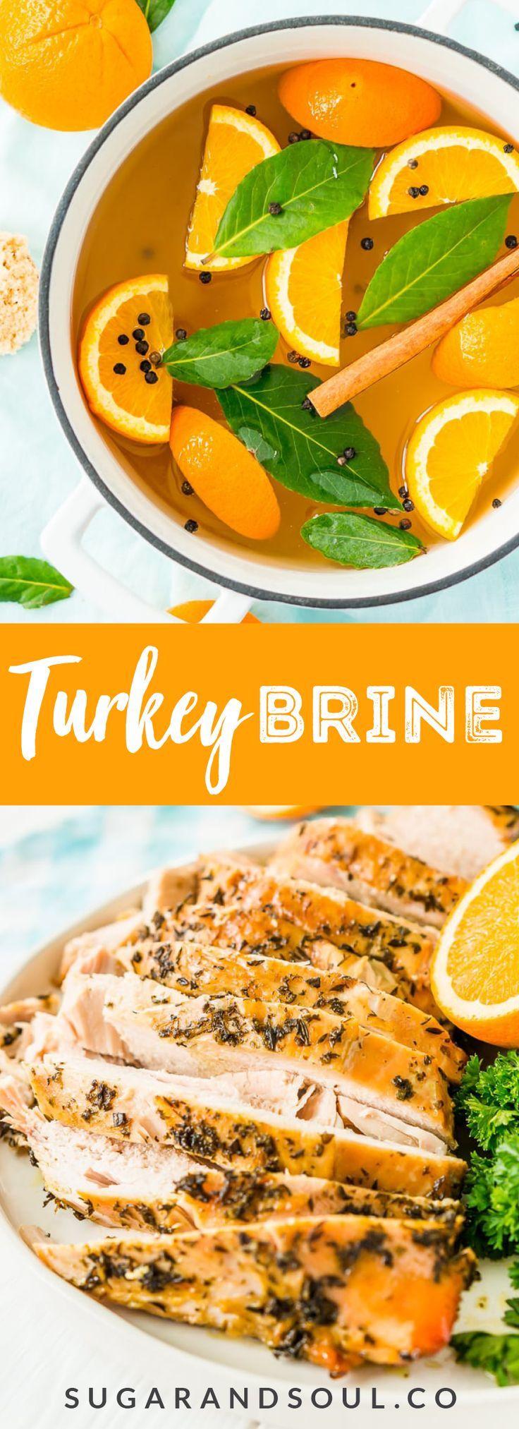 This Turkey Brine recipe made with salt oranges bay leavescinnamon brown s  Sugar  Soul
