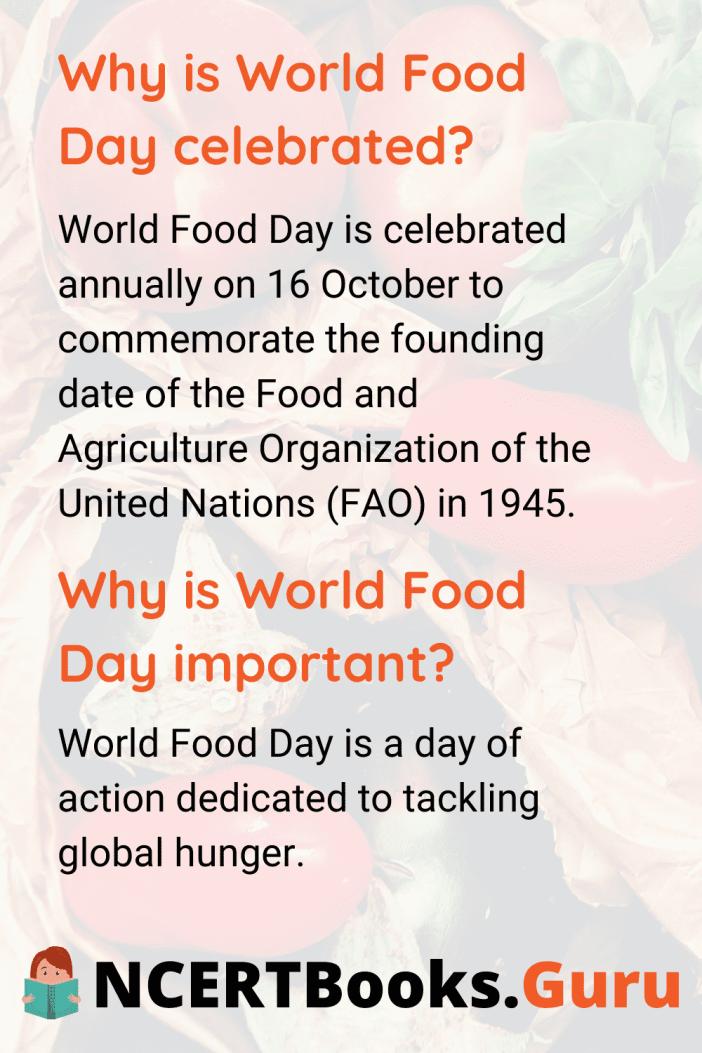 Worldfoodday Essayonworldfoodday Ncertbooksguru Essay Day Short On Food Security