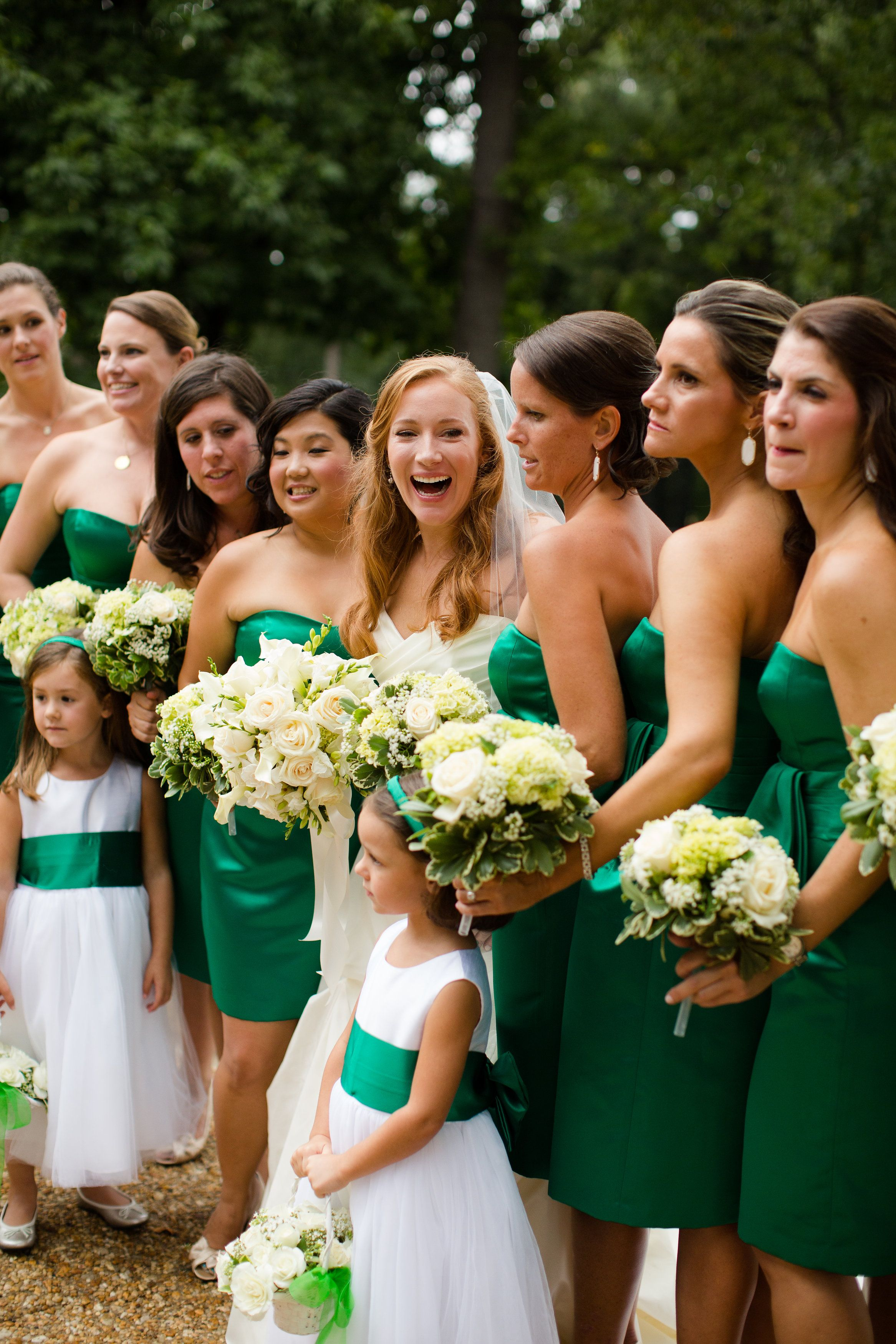 Elegant, emerald bridesmaid dresses for this Baltimore wedding ...