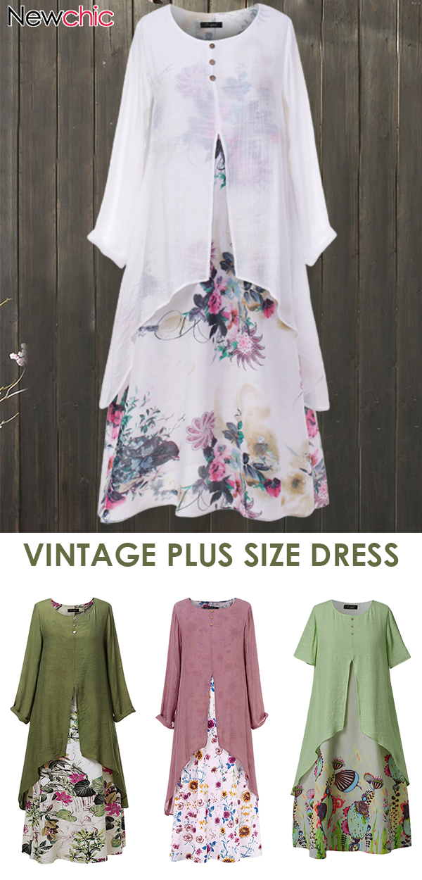 Photo of Vintage plus size dress. # Casual #spring #summer