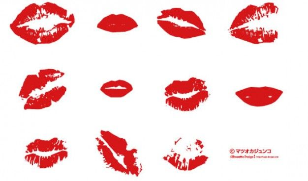 Download Red Lips Kisses For Free Free Vector Art Vector Free