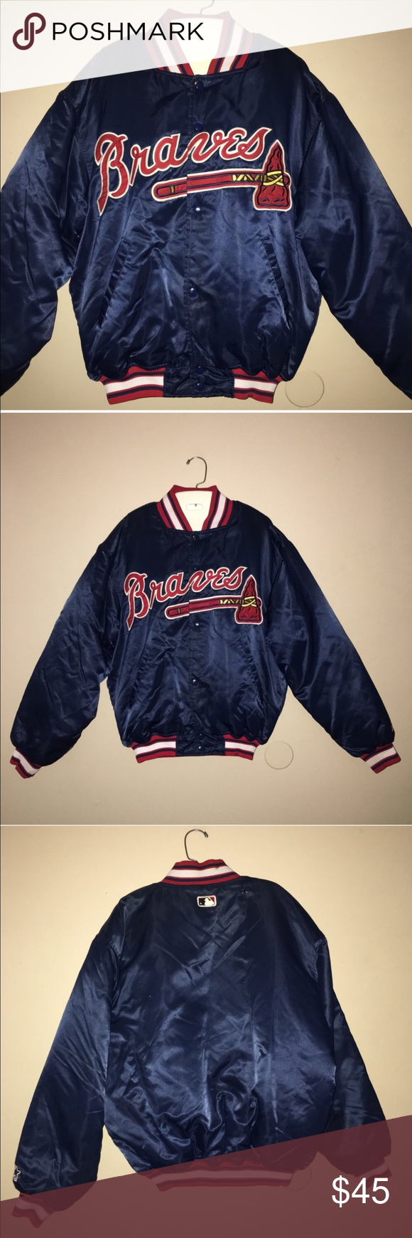 Atlanta Braves Official Starter Varsity Jacket In 2020 Varsity Jacket Jackets Atlanta Braves