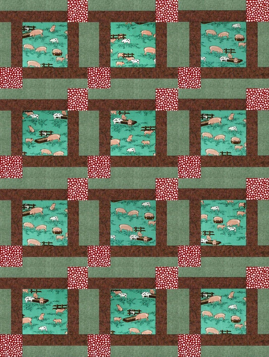 My Country Pig Farm PRE-CUT Quilt Kit Blocks   Farm quilt, Farming ... : patchwork quilt kits pre cut - Adamdwight.com