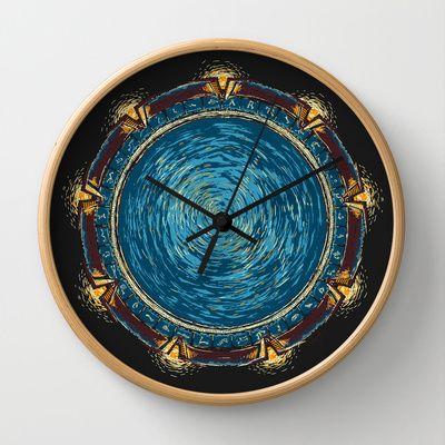 Starry Gate Wall Clock
