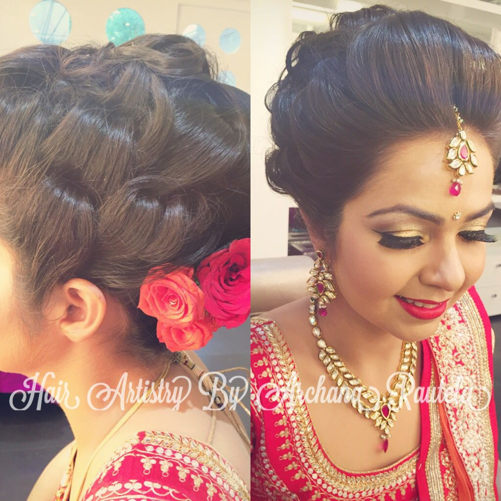 pin by archana rautela on indian wedding hair do   indian