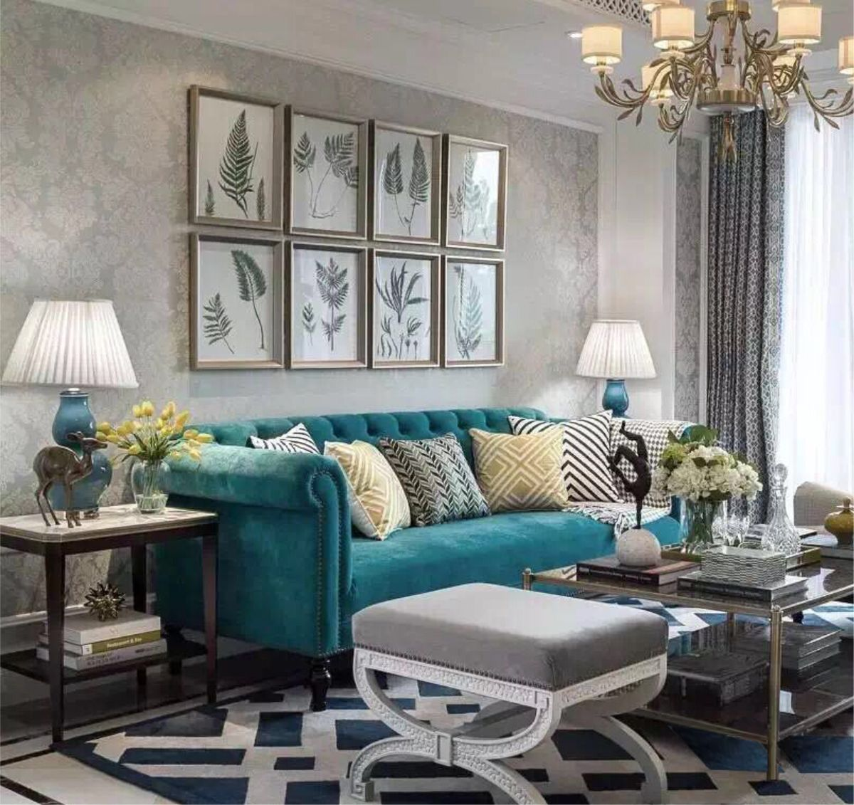 marvellous turquoise living room | Pin by tom on ket | Canapé turquoise, Salon maison, Salon ...