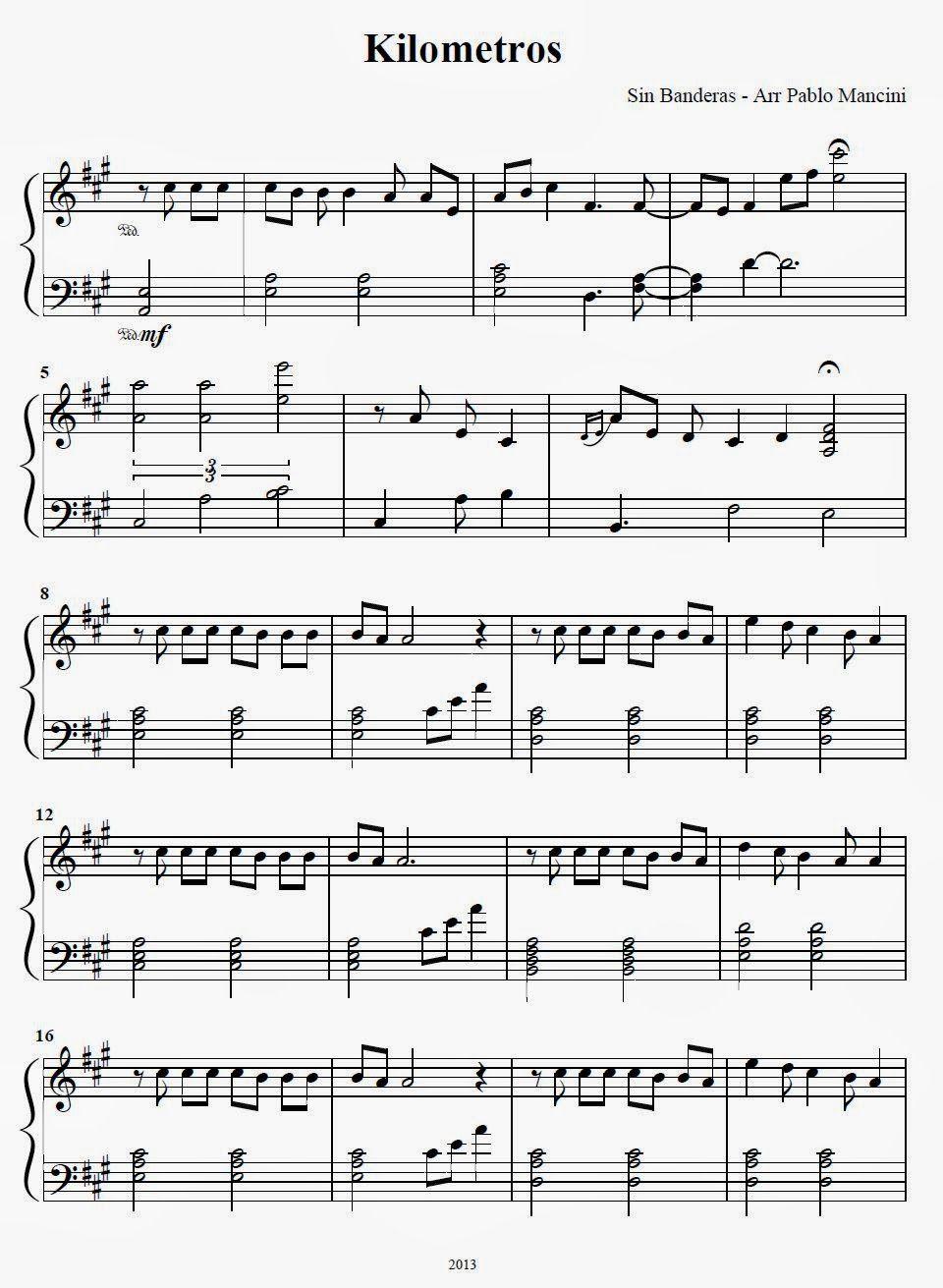 Partituras Ineditas Para Piano Kilometros Sin Bandera Partituras Partituras Acordeon Música De Piano