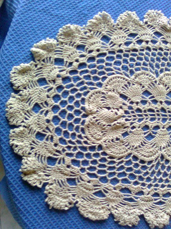 camino de mesa en crochet | Aprender manualidades es facilisimo ...