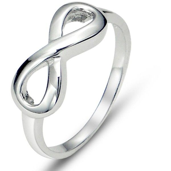 925 Sterling Silver Infinity Symbol Wedding Band Ring 688