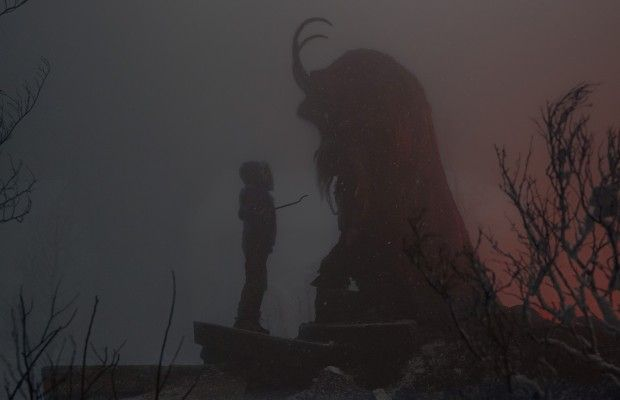 Krampus. It's from the creator of Trick 'r Treat with the cute little sack monster!