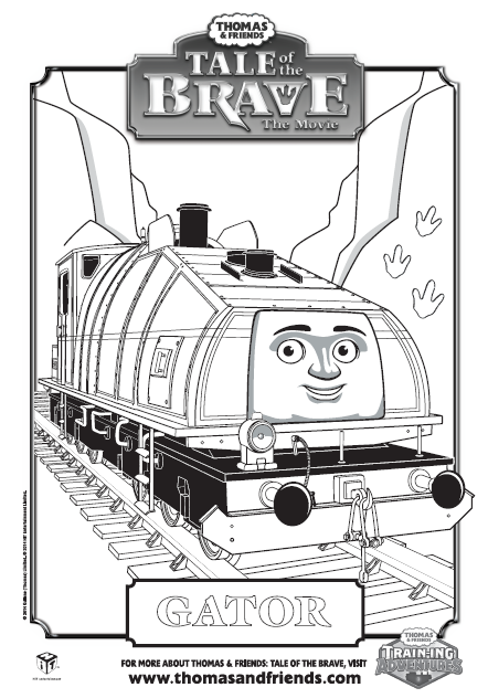 Thomas & Friends, Tale of the Brave, Gator colouring in ...