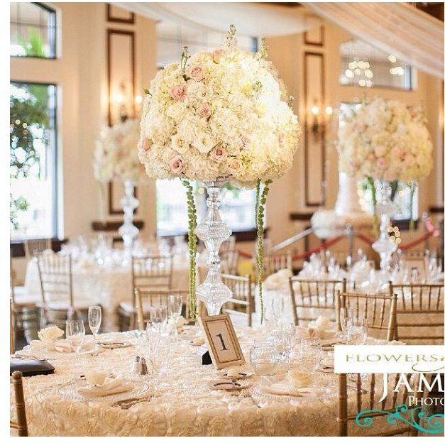 Wedding Candelabra Centerpiece Flowers Pastel