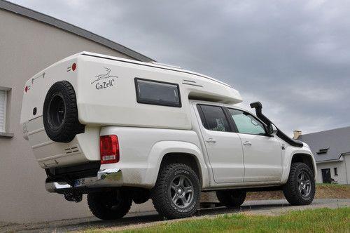 vw amarok mit gazell wohnkabine lieferwagen camper