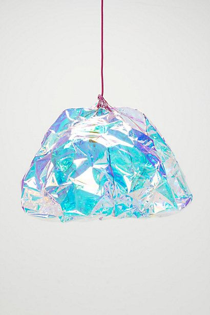 Diamond Pendant Lamp #anthropologie