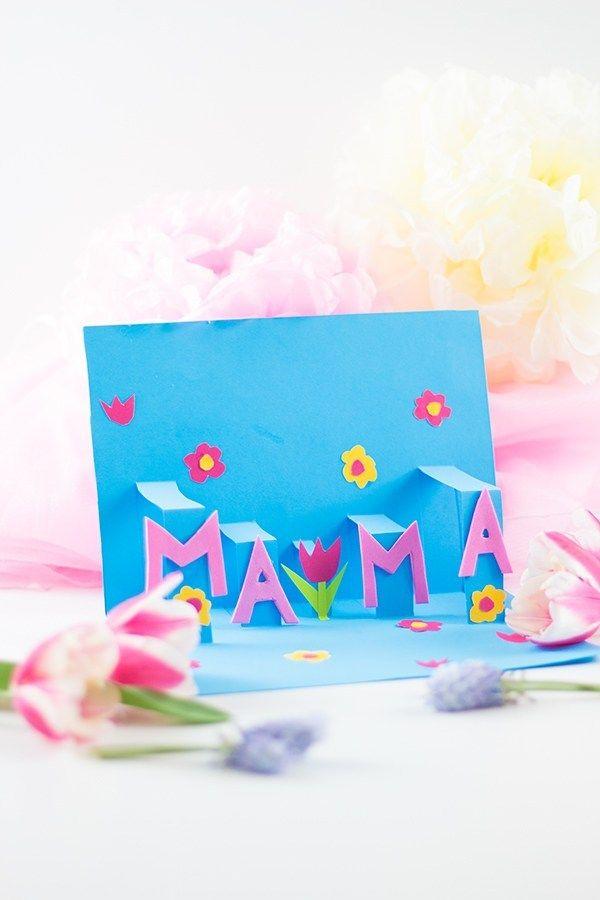 Pop-Up Muttertagskarte basteln: schnell und einfach — Mama Kreativ