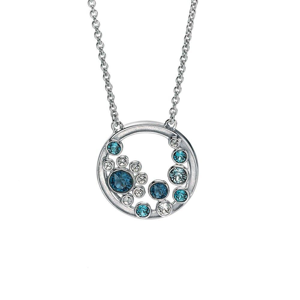 9d0665dfd39 Fiorelli blue crystal circle cluster necklet N3599 Swarovski Crystal  Necklace, Swarovski Crystals, Fiorelli,