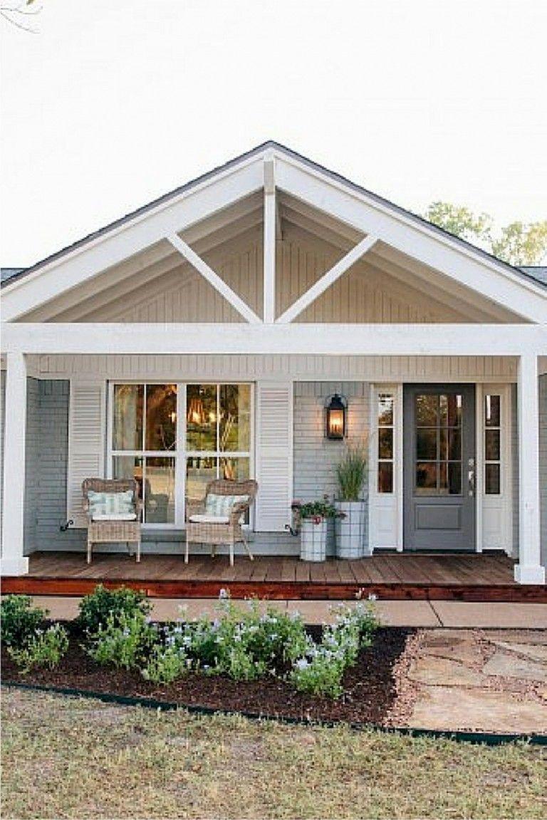 Inspiring Fixer Upper Screened Porch Ideas In 2020 Porch Roof Design House Exterior Modern Farmhouse Exterior