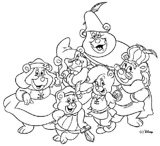 Vintage Gummi Bears Print And Color Me Bear Coloring Pages Disney Coloring Pages Coloring Pages