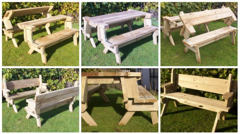Diy Folding Picnic Table Share Your Craft Picnic Table Folding Picnic Table Space Saving Furniture