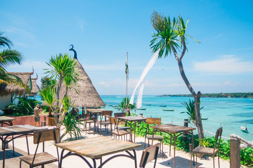 Le Pirate Beach Club Nusa Ceningan, Nusa Lembongan restaurant guide