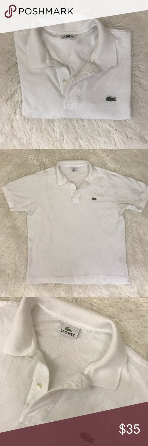 Lacoste White Polo Shirt Mens Size 6 In 2018 My Posh Picks