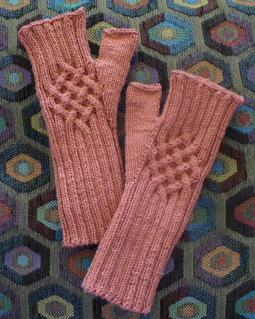 cabled wristers by fluffyknitterdeb, via Flickr, free pattern ...