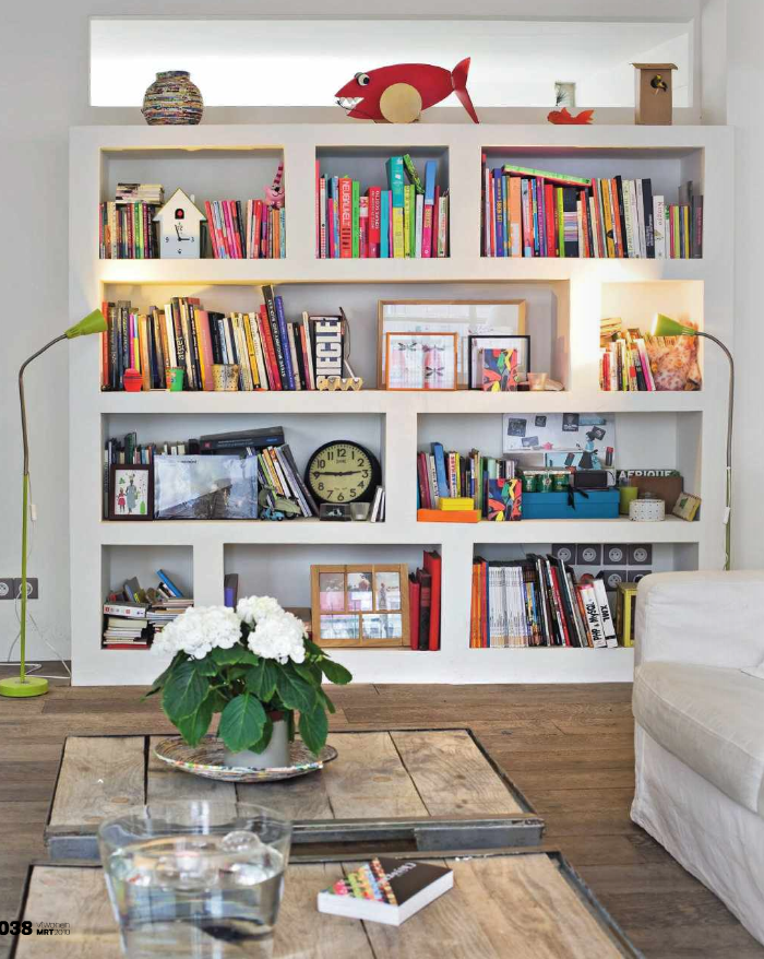 Living Room, Living Room Bookcases & Built-In