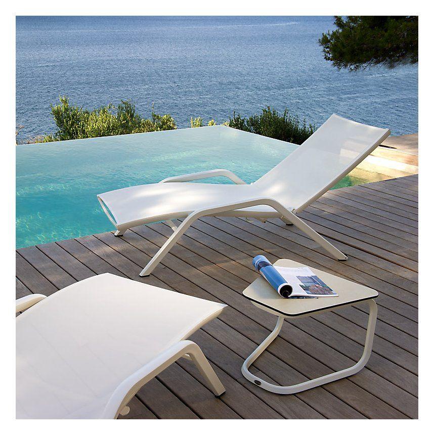 Bain De Soleil Yolo Blanc Les Jardins Bain De Soleil Camif Ventes Pas Cher Com En 2020 Bain De Soleil Transat Piscine Mobilier Terrasse