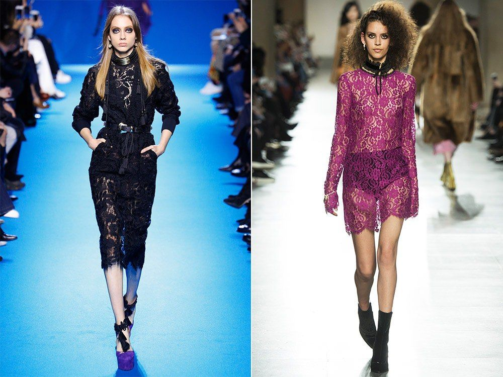Модные платья из гипюра и кружева: фото известных моделей 57