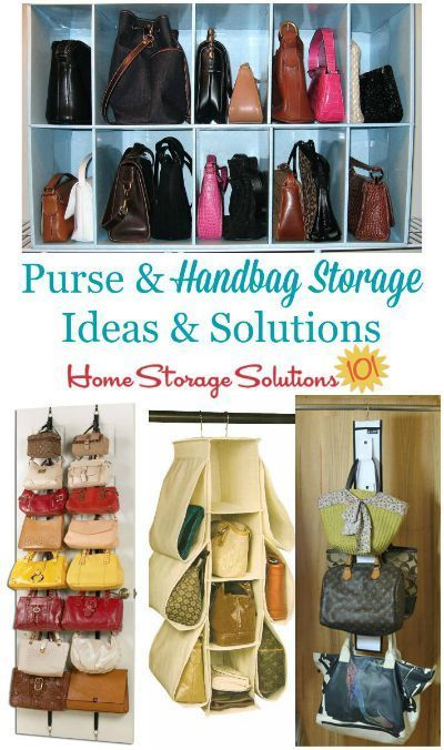 b74443005d8 Lots of purse and handbag storage ideas and solutions you can use for your  purse collections