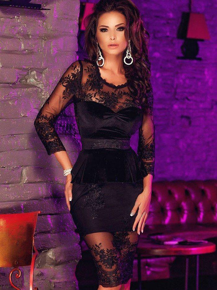 Lace Joint Open Fork Grenadine Dress | WANT! | Pinterest