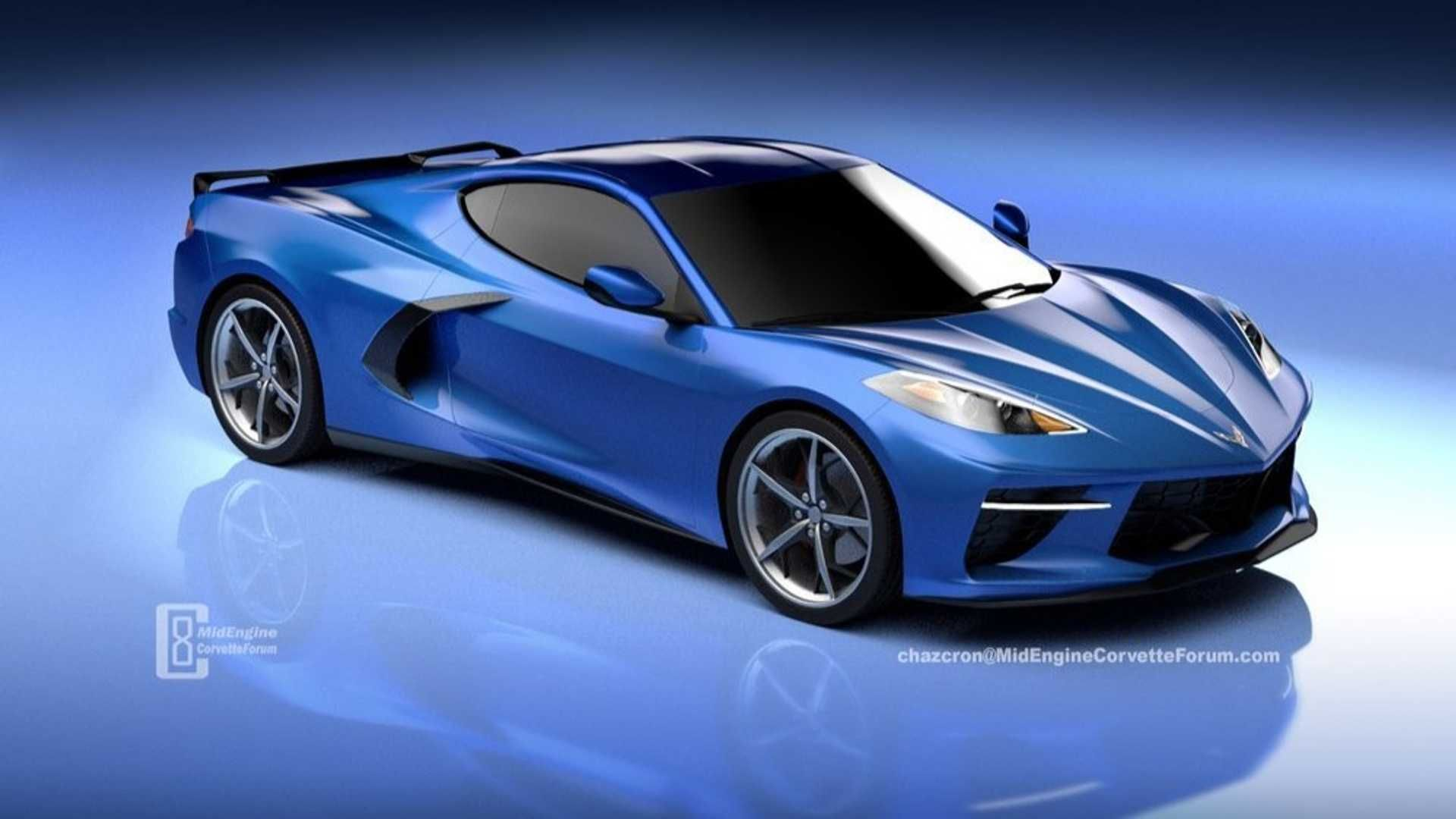 New Rendering Of The Mid Engined 2020 Chevy C8 Corvette Gives Us A More Down To Earth Look Super Cars Corvette Latest Cars