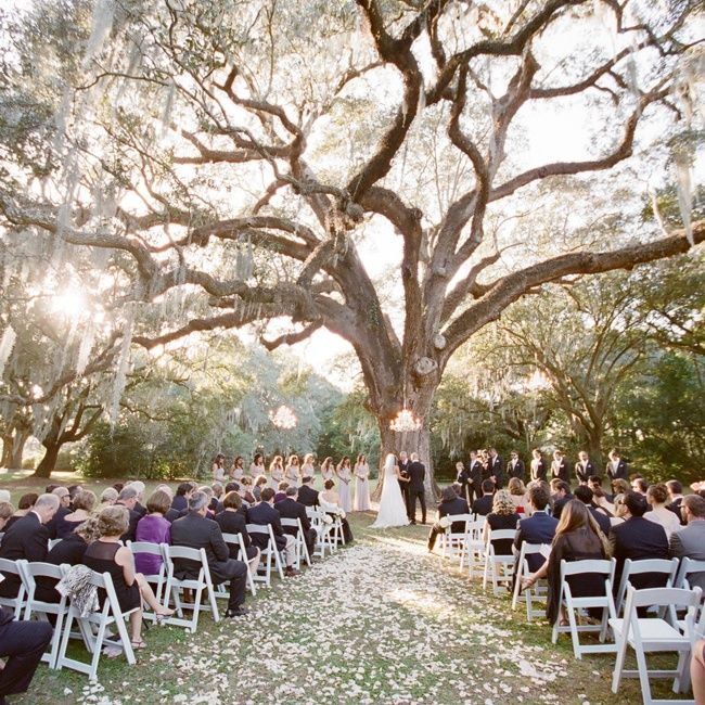 Romantic Outdoor Wedding: Romantic Outdoor Southern Ceremony