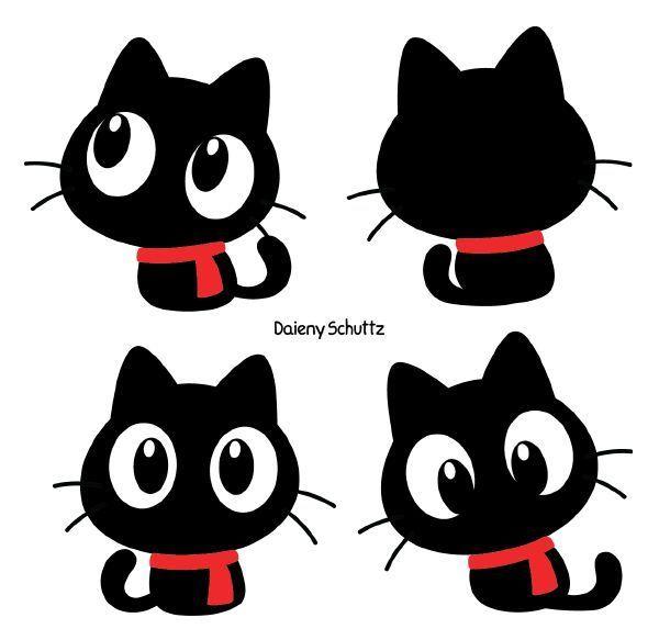 Chibi Winter Black Cat Von Daieny Deviantart Auf Deviantart