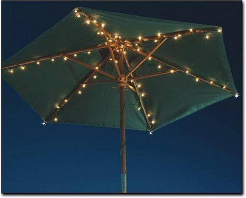 Outdoor Umbrella Lighting Patio umbrella lights outdoor living pinterest patio umbrella patio umbrella lights workwithnaturefo