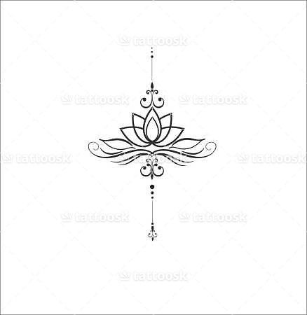 Lotus flower inked for Minimal art betekenis