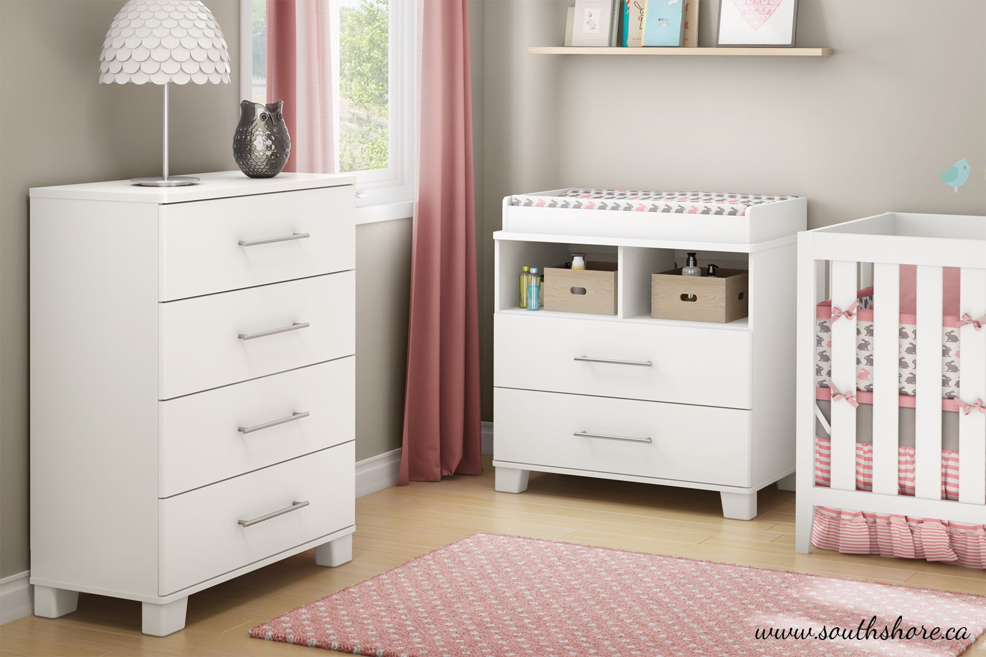 Because the nursery can also look modern and stylized