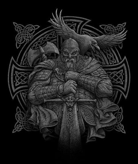 odin and huginn viking wikinger krieger tattoos. Black Bedroom Furniture Sets. Home Design Ideas