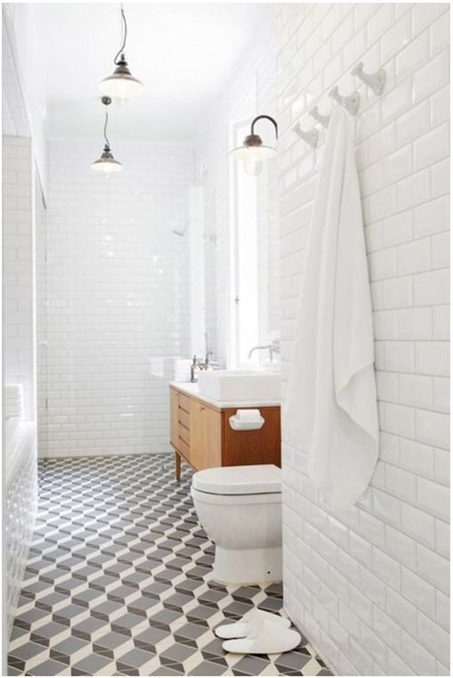 Pattern Files Geometric Tile Floors Centsational Style Bathroom Interior Bathroom Floor Tiles Bathrooms Remodel