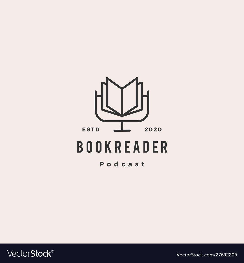 Book Podcast Logo Hipster Retro Vintage Icon For Vector Image Sponsored Logo Hipster Book Podcast Ad In 2020 Podcasts Logo Hipster Retro Logos