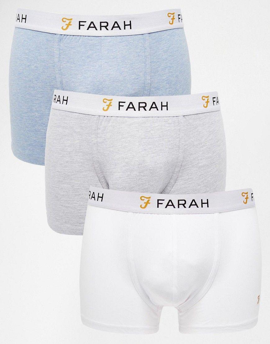 bd44fef1012 Super fede Farah Trunks In 3 Pack - Multi Farah Trusser & Hipsters til  Herrer i
