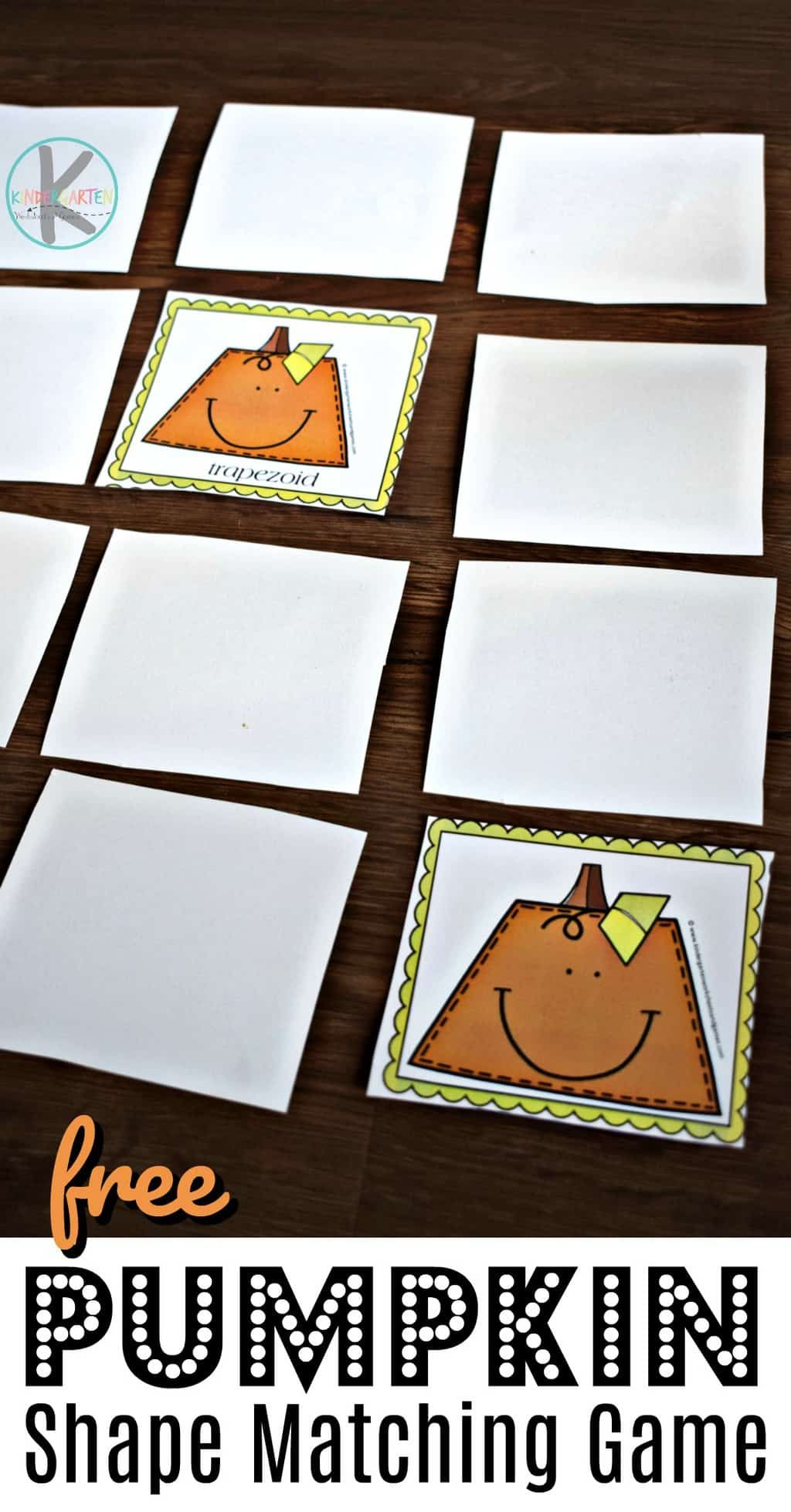 Free Pumpkin Shape Matching Game