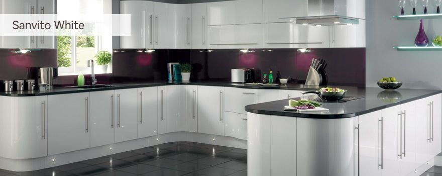 Hygena sanvito white kitchen homebase be at home for Home base kitchen units