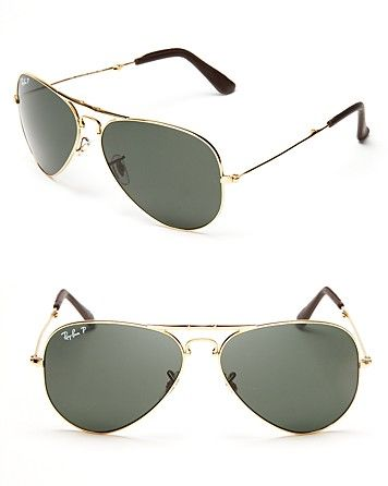 de2123ec7 Ray-Ban 18k Gold Plated Foldable Polarized Aviator Sunglasses, Limited  Edition | Bloomingdale's