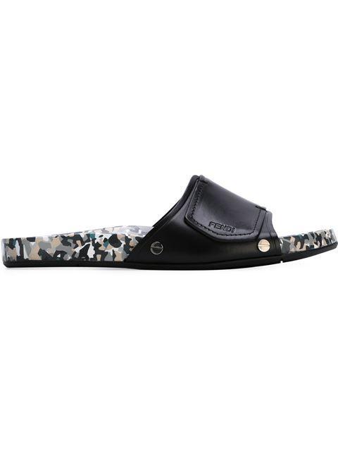 002e26d6b1773 FENDI Granite Print Flip Flops.  fendi  shoes  sandals