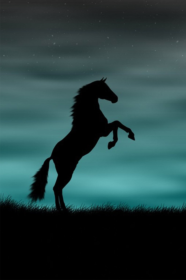 Iphone 4s Backgrounds Horse Rising Up Iphone Wallpapers